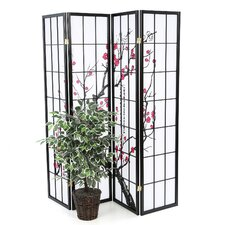 "Sakina 70"" x 72"" 4 Panel Room Divider"