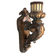 Rusted Wall Sconce Candle Holder