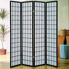 "Vavra 70"" x 69"" 4 Panel Room Divider"