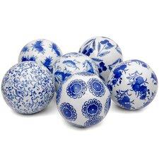 Oriental Design Decorative Ball Sculpture (Set of 6)