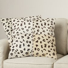 Bhatt Cow Hide Suede Throw Pillow (Set of 2)
