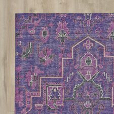 Aanya Hand-Knotted Purple Area Rug