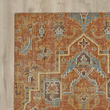 Aanya Hand-Knotted Paprika Area Rug