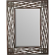 Mirror in Distressed Mocha Brown