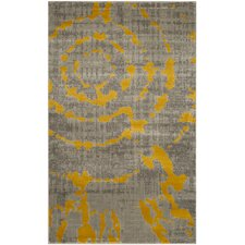 Chaima Light Gray/Yellow Area Rug