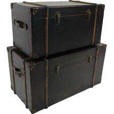 Breazeale 2 Piece Vintage Antique Decorative Trunk Set