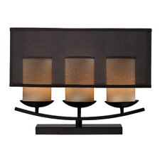 """Anika 3 Light 18"""" H Table Lamp with Drum Shade"""