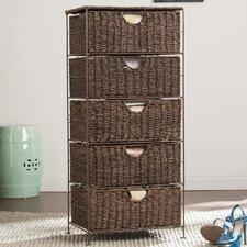 Brown 5 Drawer Storage