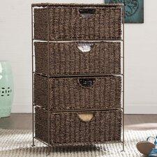 Brown 4 Drawer Storage