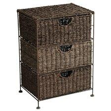 Brown 3 Drawer Storage