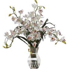 Orchid Silk Flower Arrangement in White