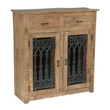 Mango Wood and Solid Metal Cabinet