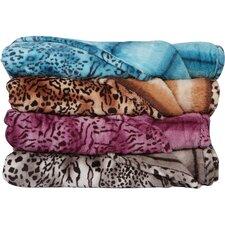 Bethlehem Plush Leopard Print Blanket