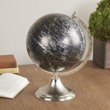 Desk Globe with Nickel Finish