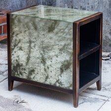 Durbin Antique Mirror End Table