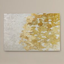 'Coe Gold and Platinum' by Oliver Gal Painting Print on Wrapped Canvas