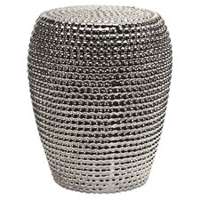 Carell Metallic Garden Stool