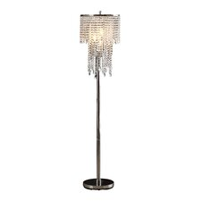 "Tillinger 63"" 3 Light Crystal Floor Lamp"