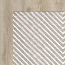 Dodge Hand-Tufted Silver & Ivory Area Rug