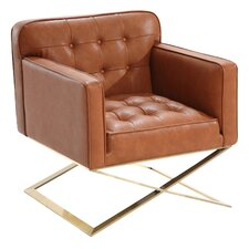 Bell Lounge Chair in Brown