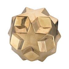 Ceramic Table Top Star Ball Sculpture