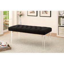 White Bird Upholstered Entryway Bench