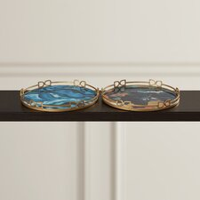 Chaplin 2 Piece Round Gallery Tray Set