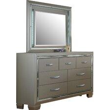 Topol 7 Drawer Dresser with Mirror