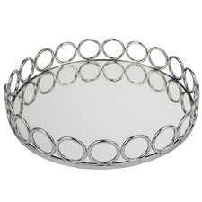 Round Mirrored Gallery Tray