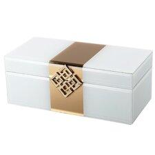 "4"" H x 10.5"" W x 5"" D Glass Jewelry Box"
