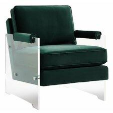 Dore Velvet/Lucite Arm Chair