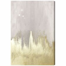 Offwhite Starry Night Painting Print on Wrapped Canvas