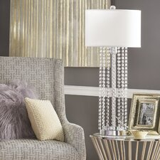 """Tillinger Crystal 31"""" H Table Lamp with Drum Shade"""