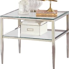 Travolta Open Shelf End Table