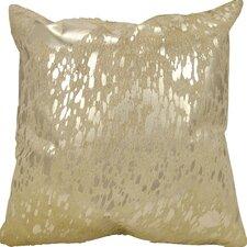 Zimbalist Natural Leather Throw Pillow