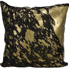 Zimbalist Natural Leather Throw Pillow