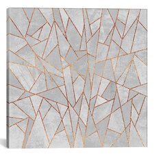 Shattered Concrete Graphic Art on Wrapped Canvas