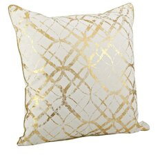Lowndes Metallic Foil Print Cotton Throw Pillow