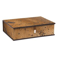 Cow-Spotted Storage Box