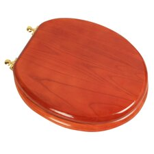 Designer Solid Oak Wood Round Toilet Seat