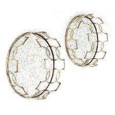 2 Piece Gild Acantha Wall Mirror Set