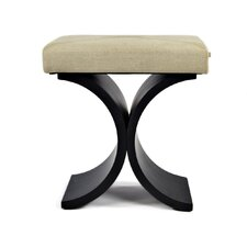 Grace Stool/Ottoman with Pull Out Shelf in Tan