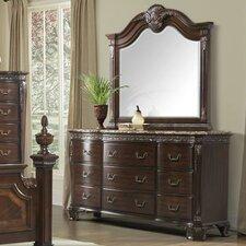 Victoria 9 Drawer Dresser with Mirror
