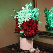Holiday Floral Centerpiece Vase