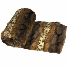 Brushed Leopard Double Sided Faux Fur Throw