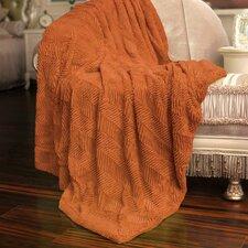 Herringbone Faux Fur Throw Blanket