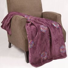 Sequin Embroidered Polyester Throw Blanket