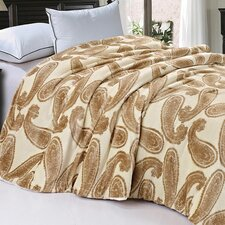 Safari Animal Nature Faux Fur and Sherpa Queen Size Blanket