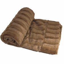 Saga Double Sided Faux Fur Throw Blanket