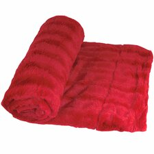 Derby Double Sided Faux Fur Throw Blanket